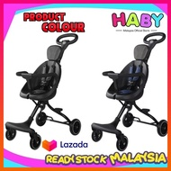 (10.10 SALES) HABY Kids V5/V3/V2 Ultra Lightweight Foldable Portable 2 Way Magic Stroller
