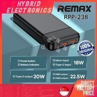 REMAX 🔥PD60W🔥 RPP-215 15000mAh PowerBank Laptop/ RPP-255 Pure Series 2.1A 10000mAh Power Bank Portable Charger Battery
