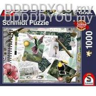 ☊﹍✗Germany import Jigsaw Puzzles SCHMIDT 1000PCS Adult puzzle birds fly111111111
