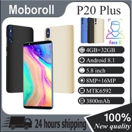 『100% New quality』P20 Plus Smartphone 5.8 inch 4GB RAM + 32GB ROM Android Mobile Phone 3G network Hand phone Murah Mobilephone Handfon Telefon Fone Handphone huawei original screen