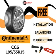 TYRE 15 inch car tyre 195/55R15 CONTINENTAL CC6 Comfort Contact tayar kereta (With Installation) new car tire