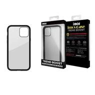 【iMos】iPhone12 mini/12/12 pro/12pro max 美國軍規認證雙料防震保護殼-潮流黑