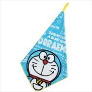 大賀屋 日貨 哆啦A夢 可掛式 手帕 方巾 毛巾 學童 攜帶 竹蜻蜓 藍色 小叮噹 正版 授權 J00012561
