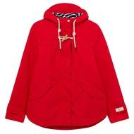 跩狗嚴選 代購 英國 新款 牛角扣 JOULES Coast 防風 防水 連帽 外套 風衣 雨衣 正紅 紅