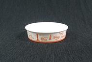 限時特賣 600個/箱【 602 丼飯碗】扁紙碗 扁碗 扁湯碗 紙碗 麵碗 紙餐盒 紙便當盒 外帶盒 打包碗 黃