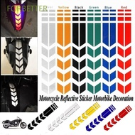 FORBETTER 1PC Reflective Sticker Funny Fender Sticker Motorcycle Sticker Creative Exterior Accessories Reflective Tape Reflector Personality Fender Decor Motorcycle Accessories/Multicolor