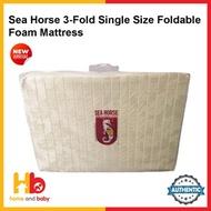 Sea Horse 3-Fold Single Size Foldable Foam Mattress