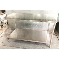 【二手】5尺不鏽鋼工作台 | 白鐵(厚料)不鏽鋼工作桌