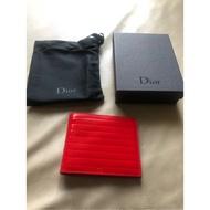 保證全新正品 Dior Homme DH 紅色漆皮 八卡 短夾 皮夾