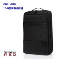 +送好禮 Samsonite RED BRIU GG6 皮革 抗菌口袋 可插掛 抗震筆電層 15.6吋筆電後背包