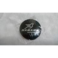 Hamann Moto 黑底銀字 56.5 貼 汽車個性貼改裝 鋁圈 鋁圈蓋貼 中心蓋標貼  56.5mm 標志 車標