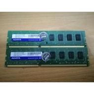 桌上型記憶體 威剛4GB DDR3 1600 雙面顆粒  中古良品
