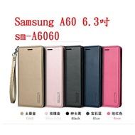 美人魚【Hanman】Samsung A60 6.3吋 sm-A6060 真皮皮套/翻頁式側掀保護套/側開插卡