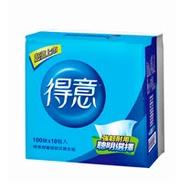 【得意】超優連續抽取式花紋衛生紙100抽*10包*7袋+漾衛生紙一串