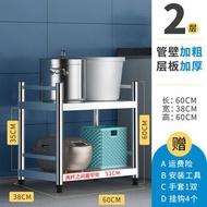 不銹鋼廚房置物架落地多層廚具微波爐架用品烤箱收納儲物架三層