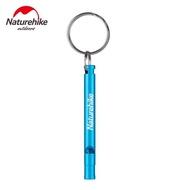 【การจัดส่ง + แฟลช Deal】NatureHike NH15A002-J อะลูมิเนียมอัลลอยแบบพกพานกหวีดฉุกเฉิน 70 มม. X 6 มม.