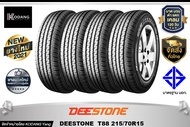 DEESTONE ยางรถยนต์ รุ่น TITANZ T88 ขนาด 215/70R15 4 เส้น ฟรี! ผ้าห่มใช้ในรถ 1 ผืน  ฟรี! จุ๊ฟลมยาง 4 ตัวทันที