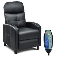 Giantex Massage Recliner Chair w/Remote Control, 5 Massage Modes, Side Pockets, Modern Ergonomic Lounge Chaise for Living Room Office (PU Leather)