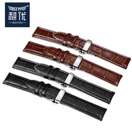 Watch strap ladies substitute Longines Tissot Citizen leather strap butterfly buckle watch strap male leather