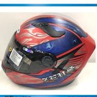 ZEUS 瑞師 813 AN2 消光紅藍 ZS-813 全罩帽 雙鏡片 全可拆安全帽《裕翔》