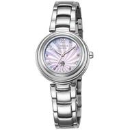 【LICORNE】力抗 永恆時光真鑽系列 浪漫貝面晶鑽手錶(紫/銀 LT123LWVA)