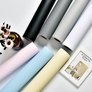 墻紙自粘臥室溫馨現代簡約防水壁紙60cm寬背景墻純色裝飾LX