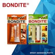 BONDITE GLUES / ADHESIVES - BONDITE 5 MINUTES RAPID EPOXY ADHESIVE / EPOXY PUTTY (DIY)