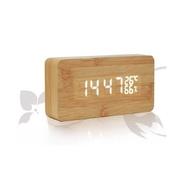 升級版 828LED聲控 木頭時鐘 電子鬧鐘 日期 溫度 濕度 迷你鬧鐘 LED鬧鐘DIGITAL INTETD1108