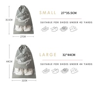 5 ชิ้นแบบพกพากันน้ำใสที่เก็บกระเป๋ารองเท้า-แขวนกระเป๋าด้วย drawstring สำหรับการเดินทางที่บ้าน