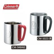 【露營趣】附鉤環 Coleman CM-5023 CM-9484 不鏽鋼斷熱杯/300 300cc 隔熱杯 啤酒杯 咖啡杯 斷熱杯 保溫杯