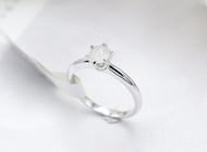 แหวนทองคำขาว 18K White Gold ประดับหยกเนื้อขาวนวล แหวนมินิมอล เล็ก ๆ น่ารัก