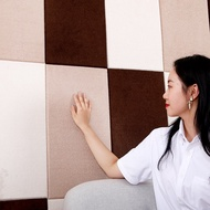 Three dimensional wallpaper for household use, anti-collision self-adhesive headboard for bedroom, u