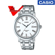 Veladeedee นาฬิกา  Casio นาฬิกาข้อมือชาย สายสแตนเลส รุ่น MTP-E149D-7BVDF