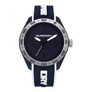Superdry SYG213U Analog Quartz Blue Silicone Mens Watch