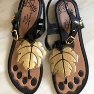 Vivienne westwood 聯名橡膠夾腳涼鞋