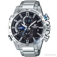 【CASIO】 卡西歐EDIFICE太陽能藍芽智慧鋼帶錶-黑 / EQB-800D-1A (台灣公司貨)
