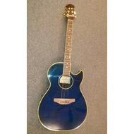 亞洲樂器 韓國製 WGE-200G 薄身圓背缺角造型 電民謠吉他 電木吉他 (3段EQ)