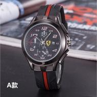 新款法拉利 汽車皮帶手錶  Ferrari男士時尚商務休閒皮帶手錶 超酷裝備