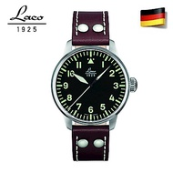 Laco 朗坤861688 飛行員系列 德國手錶 男士自動機械錶 黑/42MM