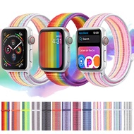 สายคล้องนาฬิกาข้อมือไนล่อนสำหรับApple Watch,ขนาด42มม. 38มม. 40มม. 44มม. สำหรับI Watch 4 5 3 2 1
