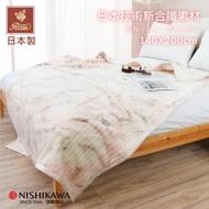 【京都西川】日本京都之花系列 新合纖雕花厚毛毯 單人140X200cm(暮秋-粉色)