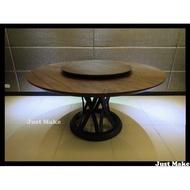 Just Make 訂製家具 會議桌 餐桌 實木圓桌 桌子 胡桃木 餐桌椅 實木餐桌 工作桌 辦公桌 胡桃木圓桌 圓桌