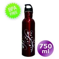 Holly 輕量化漾彩水瓶 750cc【藤蔓--紅】高級不鏽鋼材質無塗層處理 遠離雙酚A 自行車小折冷水壺、茶壺 非Koozio SIGG