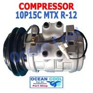 คอมเพรสเซอร์ ไมตี้เอ็ก โตโยต้า คอมแอร์ รถยนต์  10P15C COMPRESSOR Toyota Hilux Mighty X MTX R-12 Nippon Denso คอมแอร์รถยนต์ คอมแอร์ คอมเพลสเซอร์ COM0019