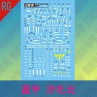 Lan Yu Water Sticker RG 1/144 Sazabi Gundam Model Chary Saza