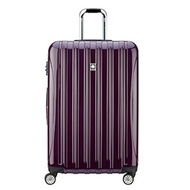▶$1 Shop Coupon◀ Delsey Lage Helium Aero Large Checked Lage Hard Case Spinner Suitcase Plum Purp