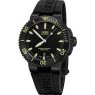 Oris Aquis 時間之海中型潛水錶-黃時標x黑/43mm 0173376534722-0742634BEB