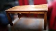 樂居二手傢俱 全新中古家具賣場 TK-A0JA *原木 柚木實木180cm餐桌* 會議桌 戶外休閒桌 餐廳桌椅