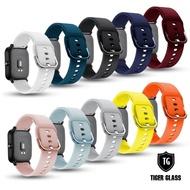 【T.G】Amazfit 米動手錶青春版Lite/GTS/BipS 20mm 鐵扣幻彩防水矽膠錶帶(矽膠錶帶 鐵扣錶帶)