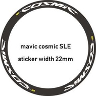 Rim Stickers 700C (mavic cosmic SLE) reflective white